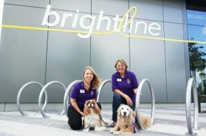 Read more about the article Therapy Dogs to Bring Joy and Stress Relief to Brightline Riders