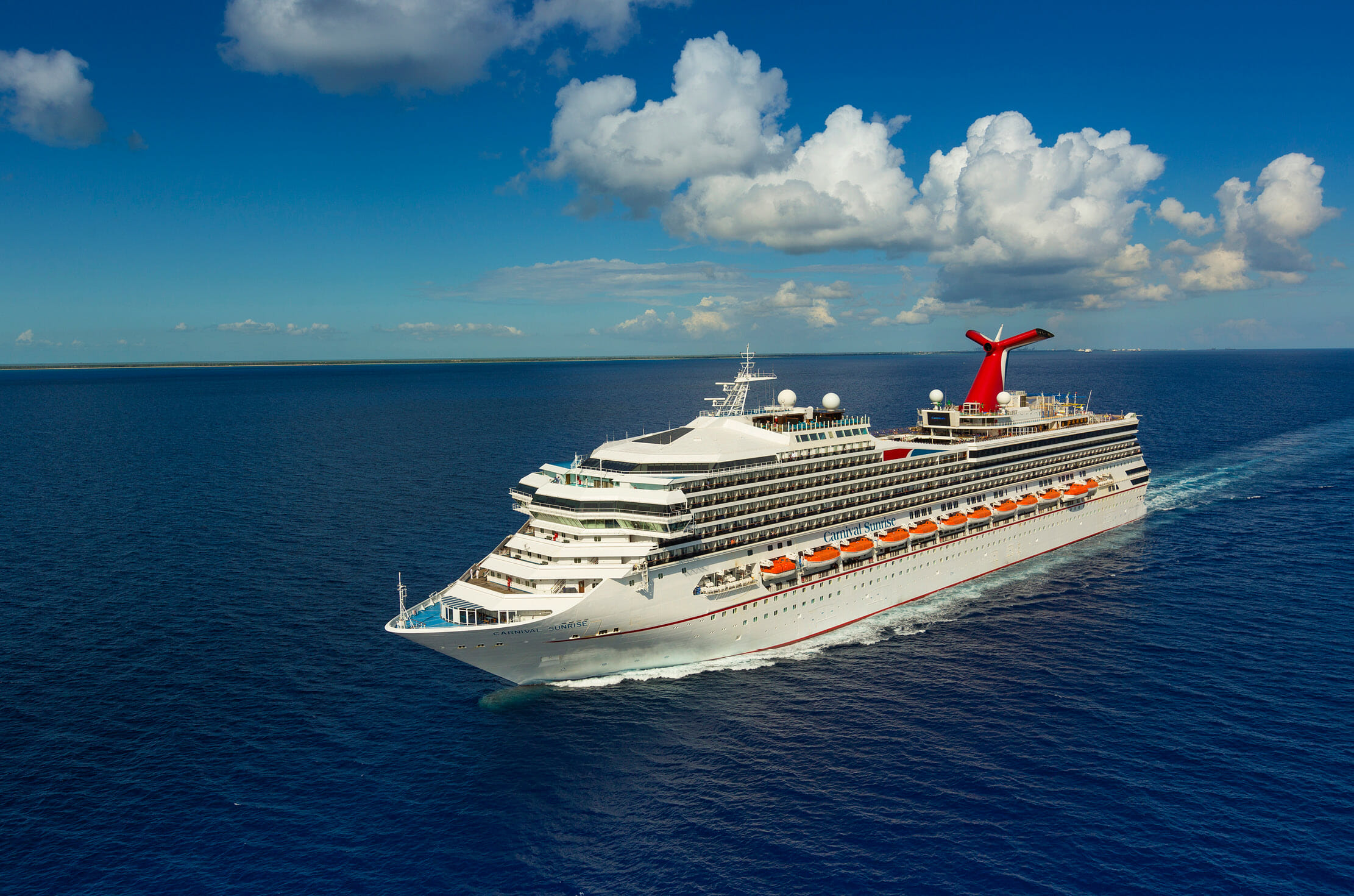 Carnival Sunrise Arrives in Fort Lauderdale to Launch a Winter Schedule of Four- and Five-Day Cruises