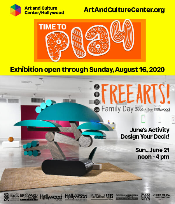 """Read more about the article Art and Culture Center/Hollywood   """"Time to Play"""" Exhibition"""