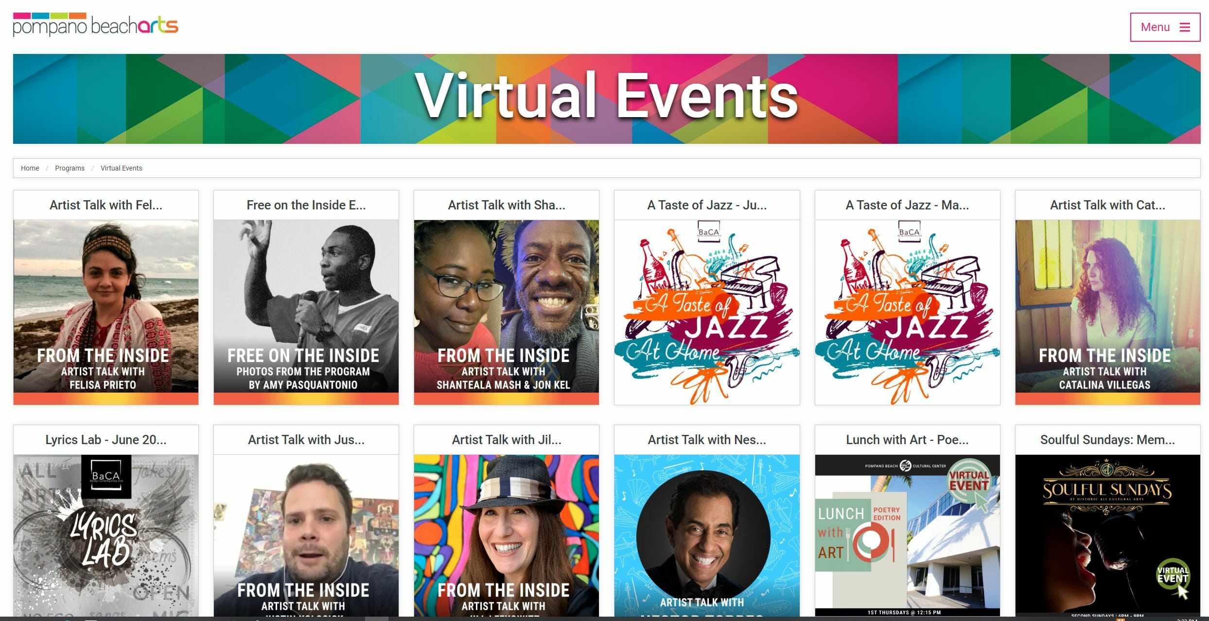Pompano Beach Arts Website Offers Virtual Performances, Workshops and Conversations