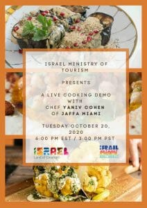 Live Cooking demo – The Israel Ministry of Tourism