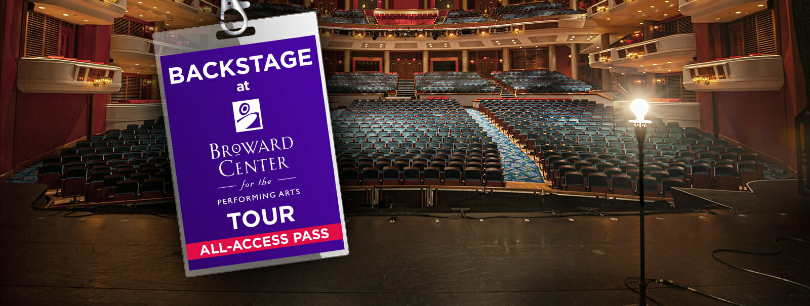 """The New """"Backstage at Broward Center"""" Tour is an Invite to Fans to """"Take Their Shot"""" and Star in their Own Onstage Photo Opp"""