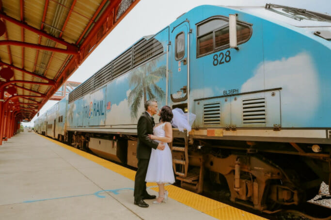 Tri-Rail Hosts First Ever Wedding at Delray Beach Station