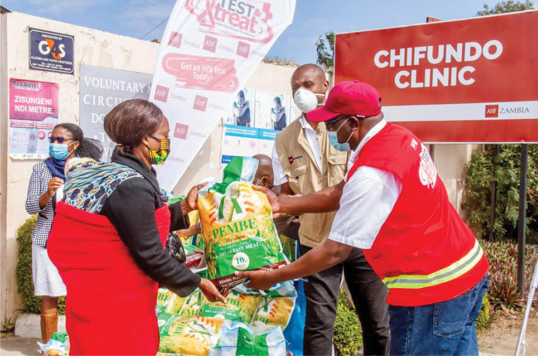 Read more about the article 12,000 Food Parcels Reach AHF Africa Clients