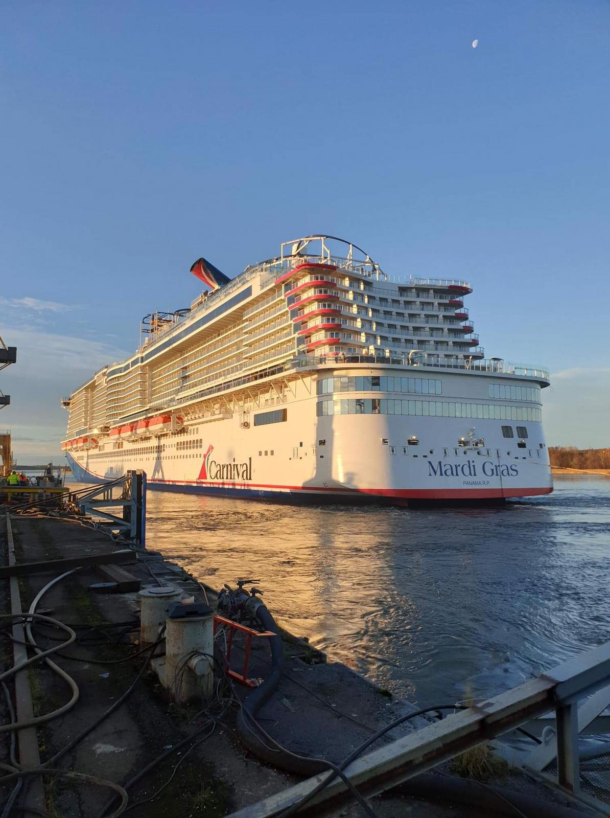 Carnival Cruise Line Takes Delivery of Mardi Gras