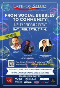 """From Social Bubbles to Community"": Latinos Salud's ""Blended"" Anniversary Gala to Bring Guests to the Screen, Feature Live Talent, and Include a Special Announcement"
