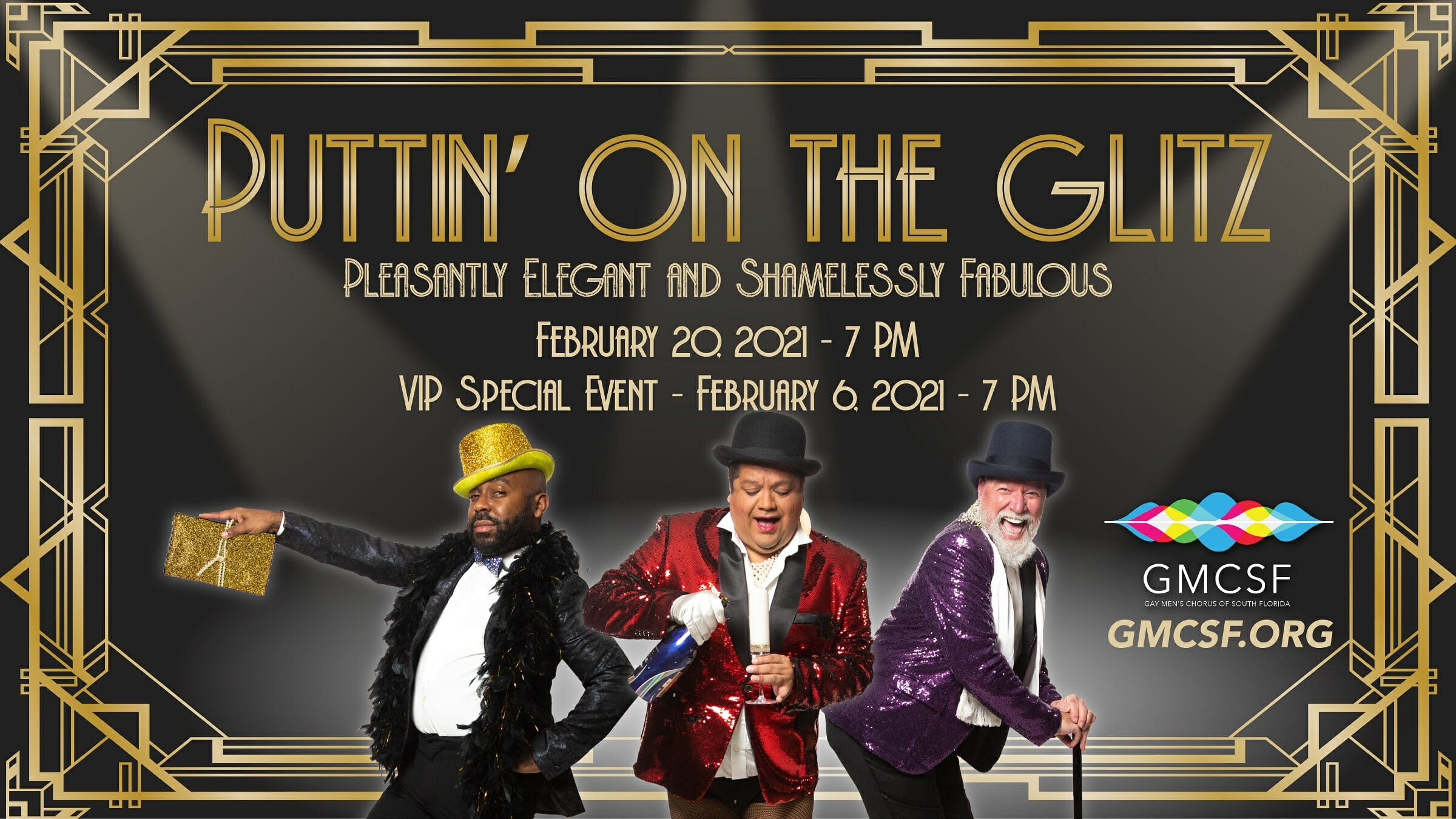 "Gay Men's Chorus of South Florida 2021 Gala Fundraiser ""Puttin' on the Glitz"""