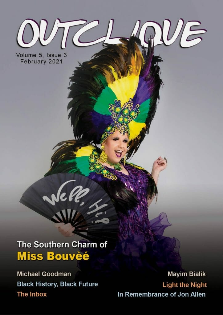 February 2021 cover_Miss Bouvèé_Cover Photo Courtesy of Michael Johns