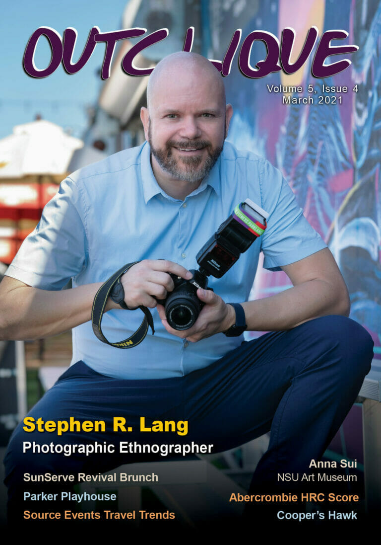 March 2021 Magazine Cover _ Stephen Lang on the cover with a camera in his hands