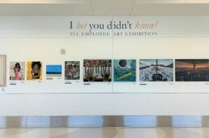 Airport Employee Art Exhibition I Bet You Didn't Know!
