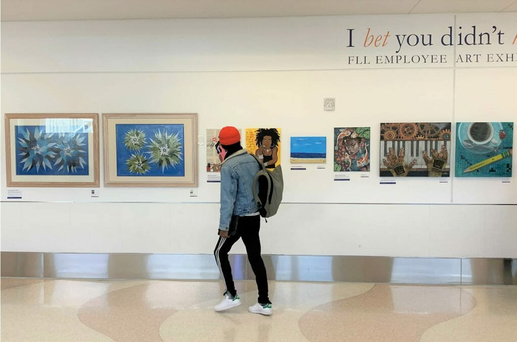 Art Exhibition at Airport