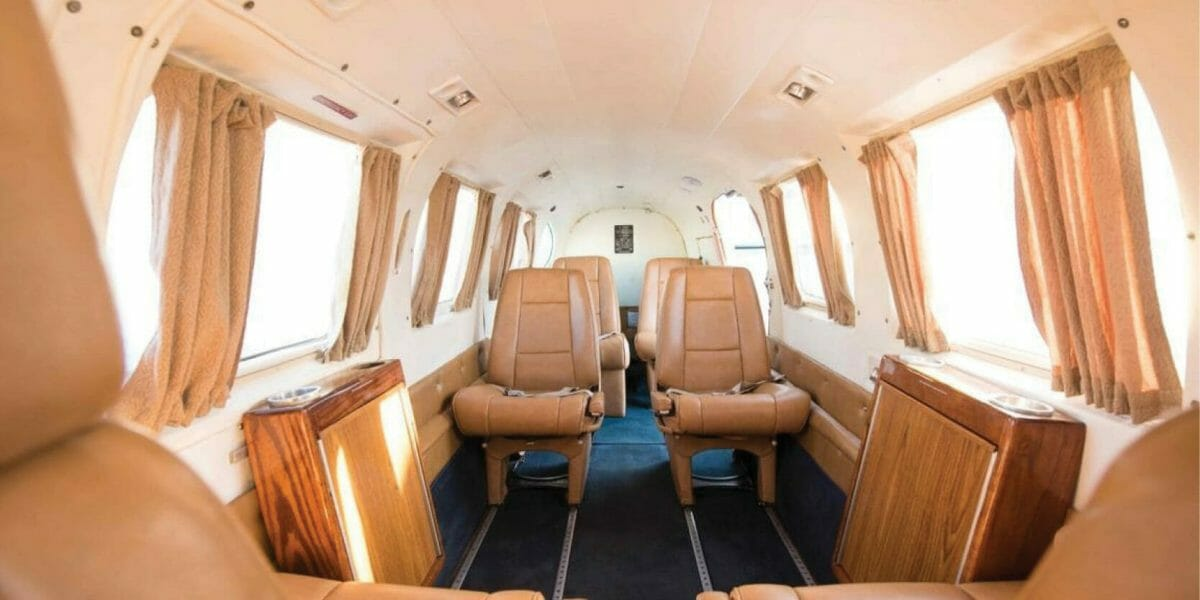AztecAir Marathon - inside airplane