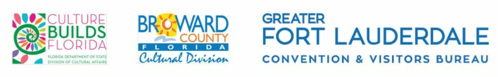 Logos of Broward county Cultural Division and Great fort Lauderdale CVB and Culture Builds Florida