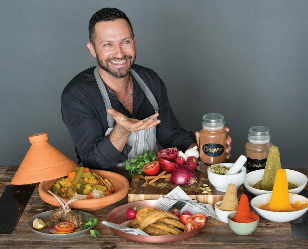 Yaniv Cohen _ Variety of foods in front of him