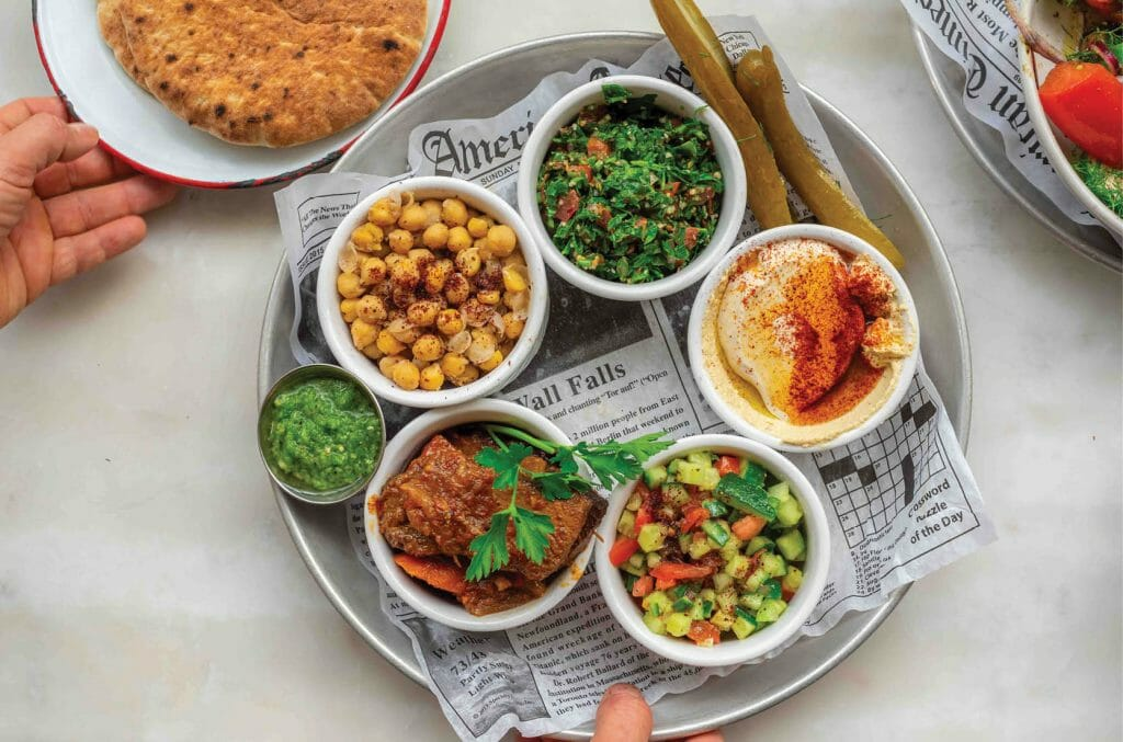 Yaniv Cohen, variety of his food plates