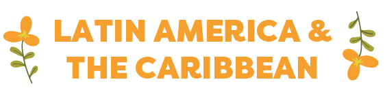 Graphic text reads Latin America & the Caribean