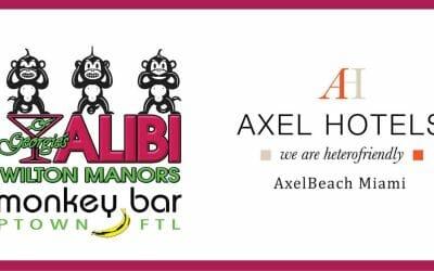 Alibi and AxelBeach Kitchen Logos