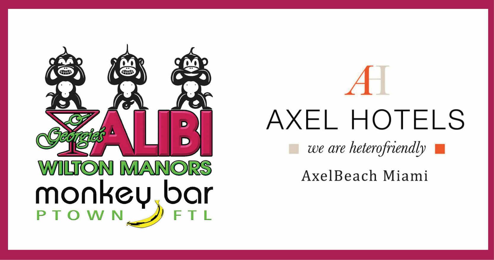 Georgie's Alibi Monkey Bar + AxelBeach Miami Hotel = Alibi at AxelBeach