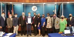 Mayor Dean Trantalis _ Group photo with members of the city _ Mayor Trantalis proclaims March 25 as Greek Independence Day i n Fort Lauderdale, marking that nation's 200t h anniversary of freedom from the Ottoman Empire.