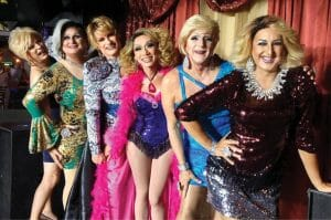 Drag Legend Candy Cox on Stilettos at The Pub Wilton Manors
