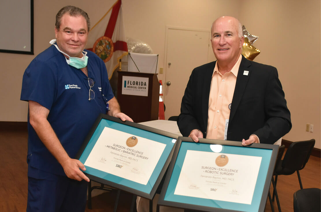 Florida Medical Center is honored to have achieved Center of Excellence for Robotic and Bariatric Surgery