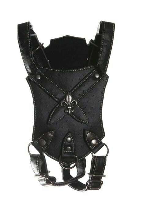 Black Ostrich Dog Harness