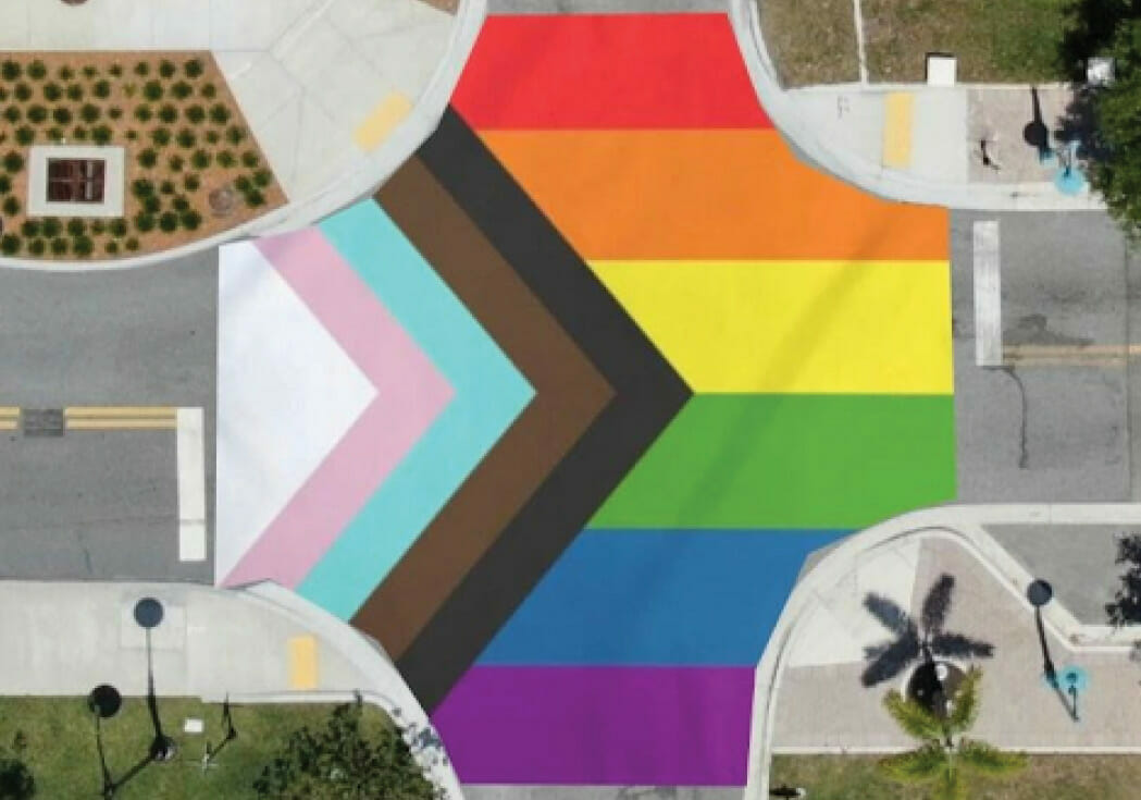 Work Completed On Palm Beach County's First LGBTQ Pride Crosswalks