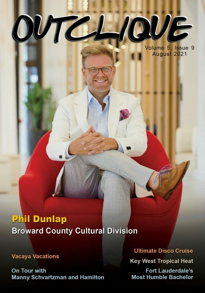 August 2021 Magazine Cover _ Phil Dunlap _ Broward County Cultural Division