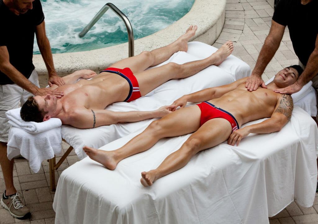 2 men at the Grand Resort & Sap