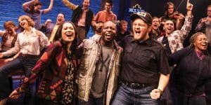 Kravis on Broadway_COME FROM AWAY _ Group photo on stage