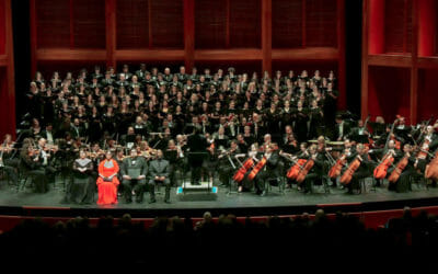 """""""ODE TO JOY"""" Finale with SFSO, guest soloists and the debut of the SFSO Festival Chorus       Photo Courtesy of Stephen Shires"""