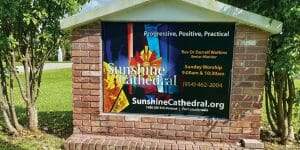 Sunshine Cathedral _ Sign